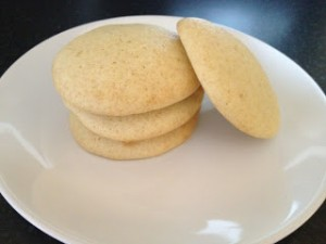 Chewy Lime and Vanilla Cookies