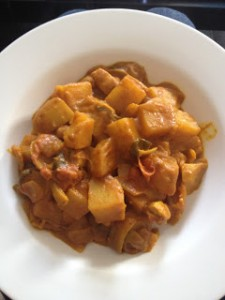 Our version of Homemade Chicken and Potato Curry