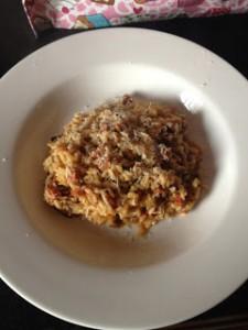 Chorizo Risotto and A Kitchen Update