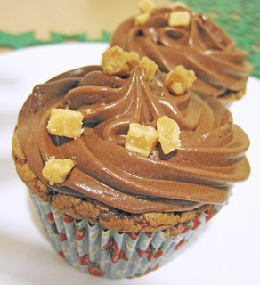 Fudge Cupcakes with Chocolate Sour Cream Frosting