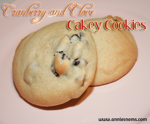 Cranberry and Clove Cakey Cookies