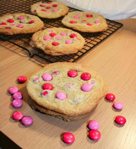 Giant Smartie Cookies