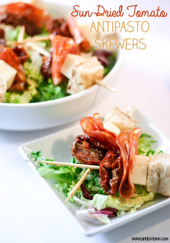 Sun-Dried Tomato Antipasto Skewers