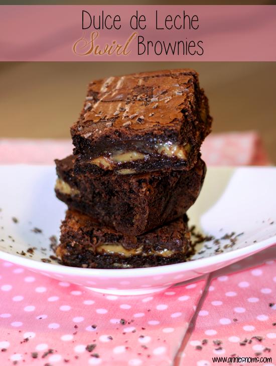 Dulce de Leche Swirl Brownies
