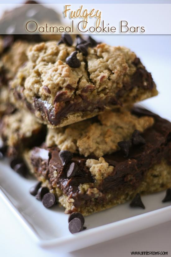 Fudgey Oatmeal Cookie Bars