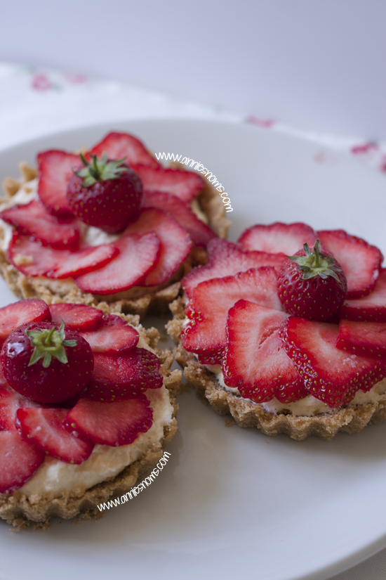 Strawberry and White Chocolate Tartlets