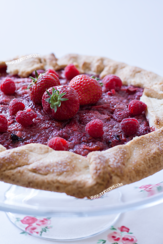 Strawberry and Raspberry Galette