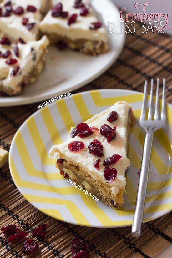 Secret Recipe Club – Cranberry Bliss Bars