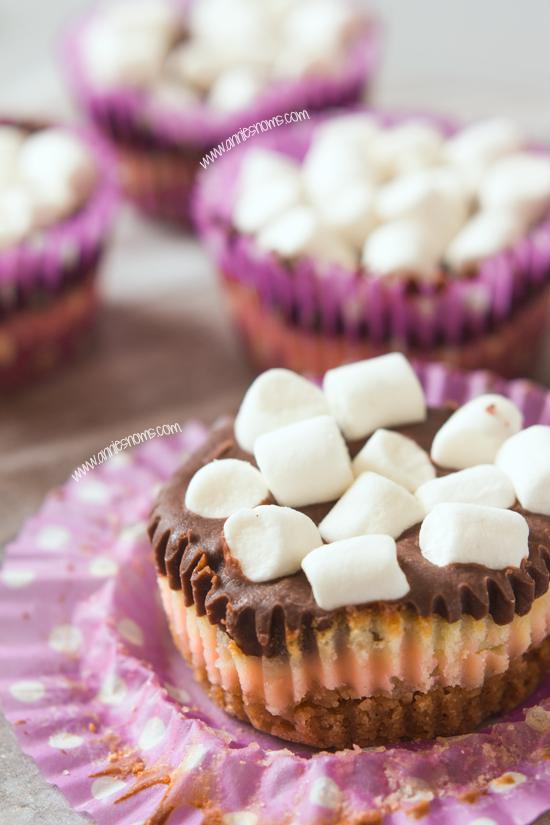 Mini S'mores Cheesecakes