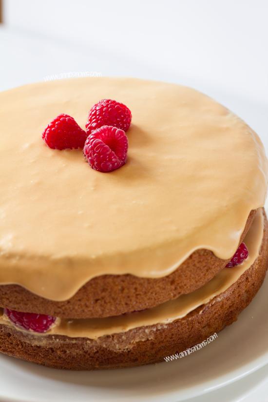 Raspberry Caramel Cake