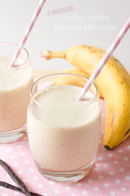 {3 Ingredient!} Healthy Vanilla Banana Milkshake