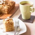 Biscoff Marshmallow Crumb Cake