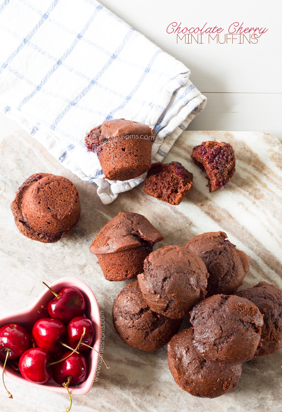 Chocolate Cherry Mini Muffins