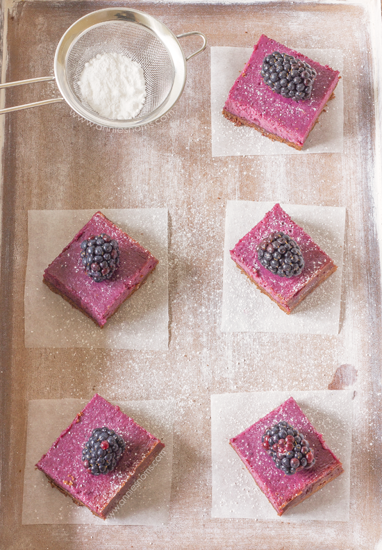 Chocolate and Blackberry Shortbread Bars | Annie's Noms