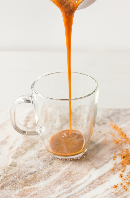Pumpkin Coffee Syrup | Annie's Noms - This lightened up homemade pumpkin coffee syrup is so simple to make, yet packs a real flavour punch. It's the perfect syrup to make your very own pumpkin spice lattes at home!