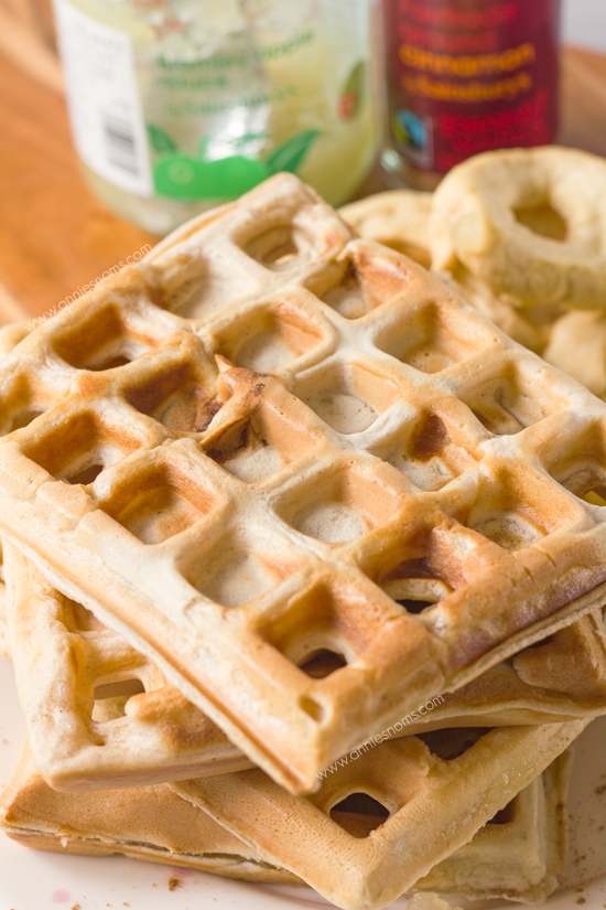 Apple Spice Waffles with Spiced Applesauce - These waffles combine a ...
