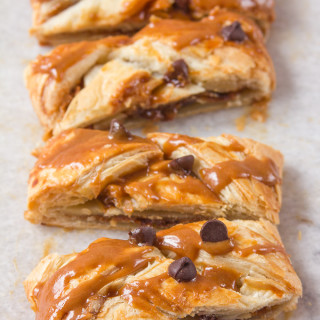 Easy Chocolate Chip Biscoff Danish Braid