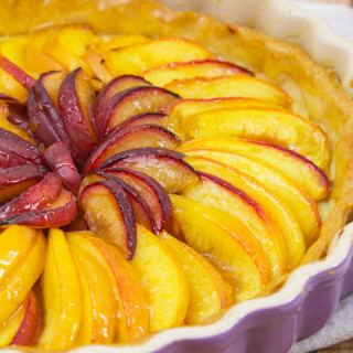 Plum and Nectarine Tart
