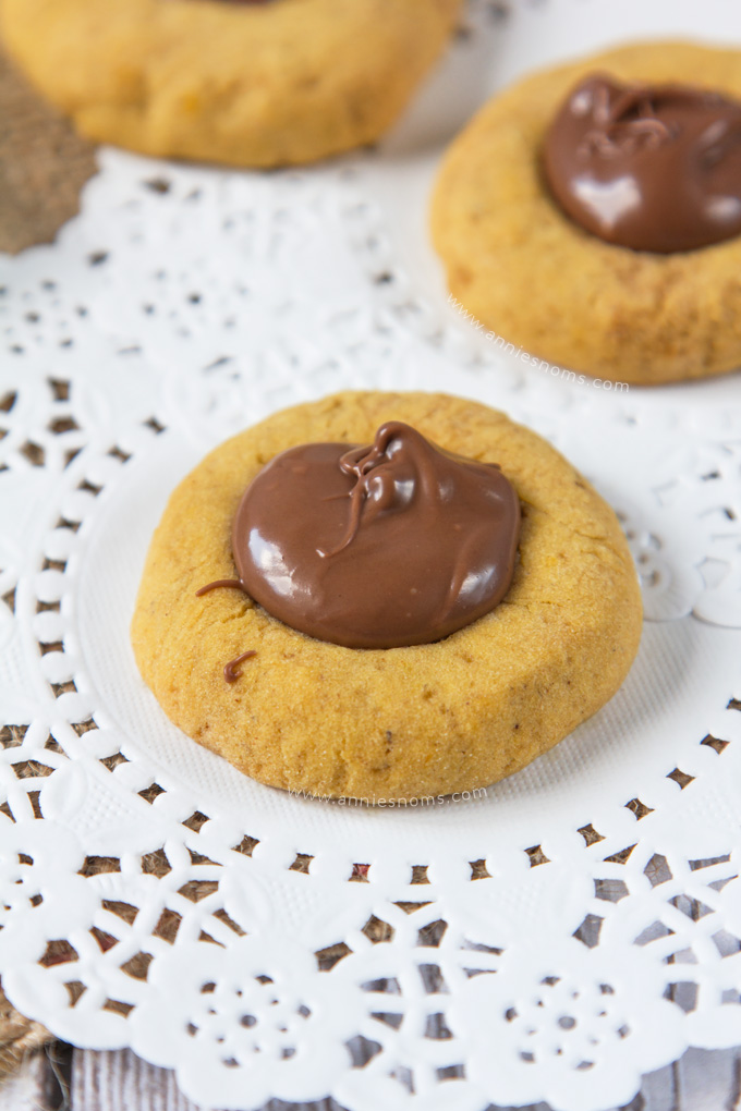 ... and these Pumpkin Nutella Thumbprint Cookies were one of those bakes