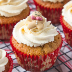 These Gingerbread Latte Cupcakes are everyone's favourite festive drink in cupcake form!