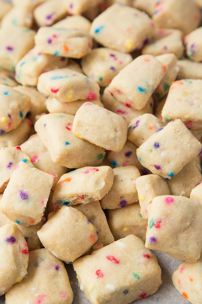 funfetti mini shortbread