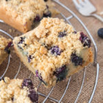 My Blueberry Sugar Cookie Bars are a combination of soft, chewy cookie, fresh blueberries and a crumbly, oat topping. Sweet, crunchy and juicy; these are out of this world good!