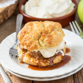 Caramel Apple Shortcakes