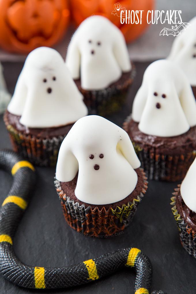Ghost Cupcakes Fun Halloween Recipe Annie S Noms
