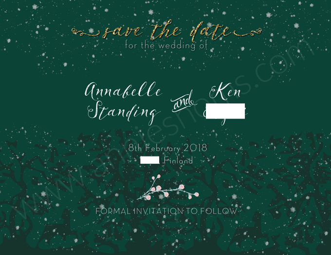 Sending our Save the Dates! | Annie's Noms