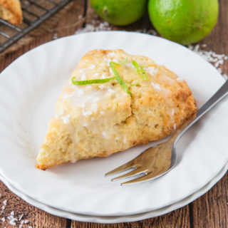 Lime and Coconut Scones