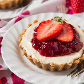 No Bake Strawberry Cheesecakes For Two