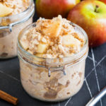 These Maple Apple Overnight Oats are the perfect make ahead breakfast; with two ways to make them, you're bound to fall in love with these creamy, sweet and fruity oats!