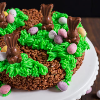 Easter Bunny Rice Krispie Cake