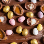 This easy, Easter Chocolate Bark is covered in Creme eggs, caramel eggs, mini eggs and golden eggs. A total egg overload, this recipe is fun to make and perfect for adults and kids alike!