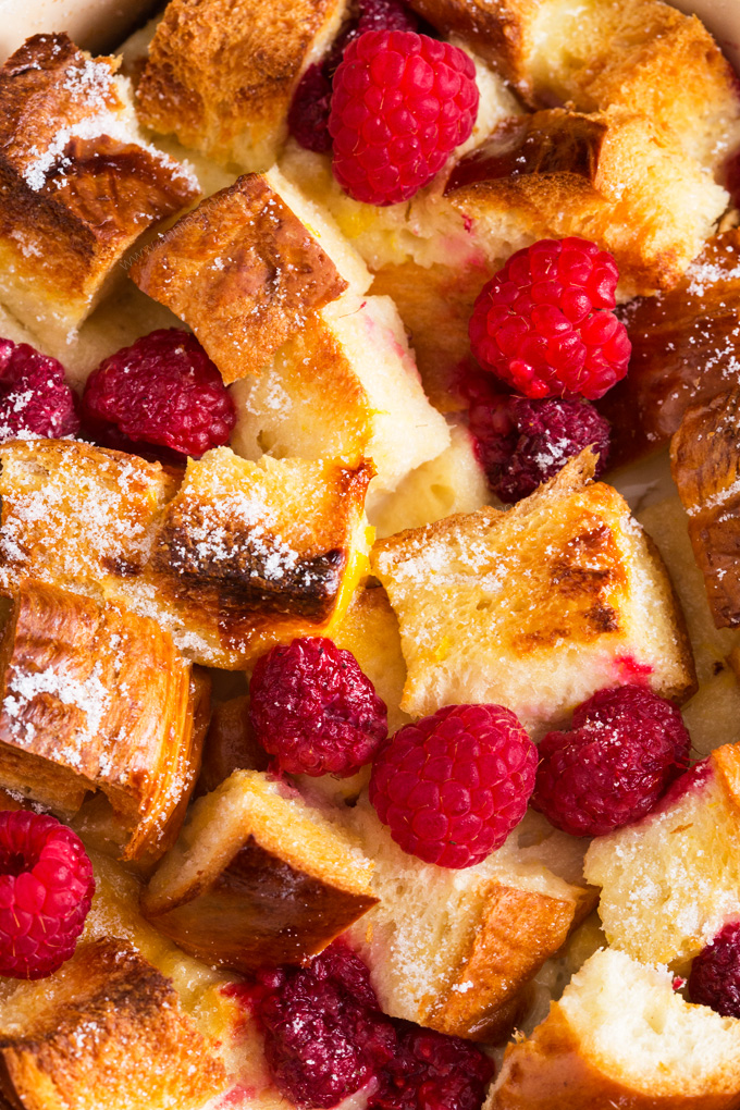 This Lemon and Raspberry French Toast Bake will have you going back for seconds and thirds! The perfect Spring flavour combination, this is a decadent weekend brunch recipe the whole family will love!