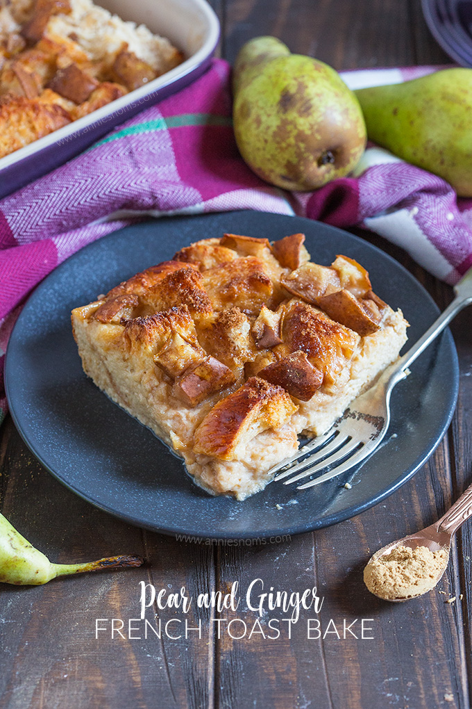 There's no better way to start the day than with my Pear and Ginger French Toast Bake. Soft, sweet, spicy and filled with fresh pears, it's easy to make and a real crowd pleaser!