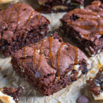 These thick and chewy chocolate brownies are stuffed with mince pies and make the most amazing festive treat. A twist on a classic brownie, these beauties are easy to make and addictive!
