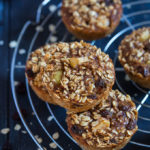 These chewy Apple and Raisin Oatmeal Cups are easy to make and delicious! They are the perfect thing to make ahead and then have on the go during the week!