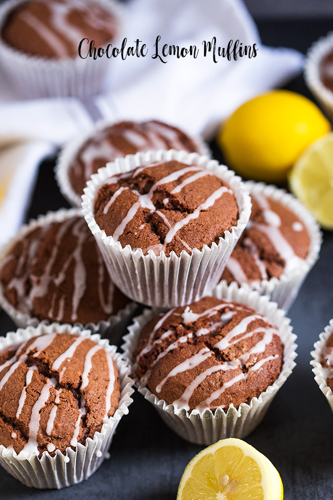 These Chocolate Lemon Muffins are light, flavourful and full of melted chocolate and lemon zest. Perfect for breakfast on the go, or a little mid afternoon pick me up!