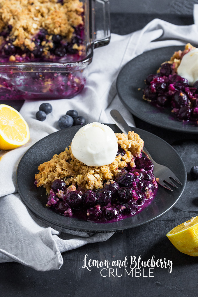 This Lemon and Blueberry Crumble is easy to make and full of flavour. Sweet, tart, crisp, juicy; it tastes like you spent hours in the kitchen when you threw it together in minutes!