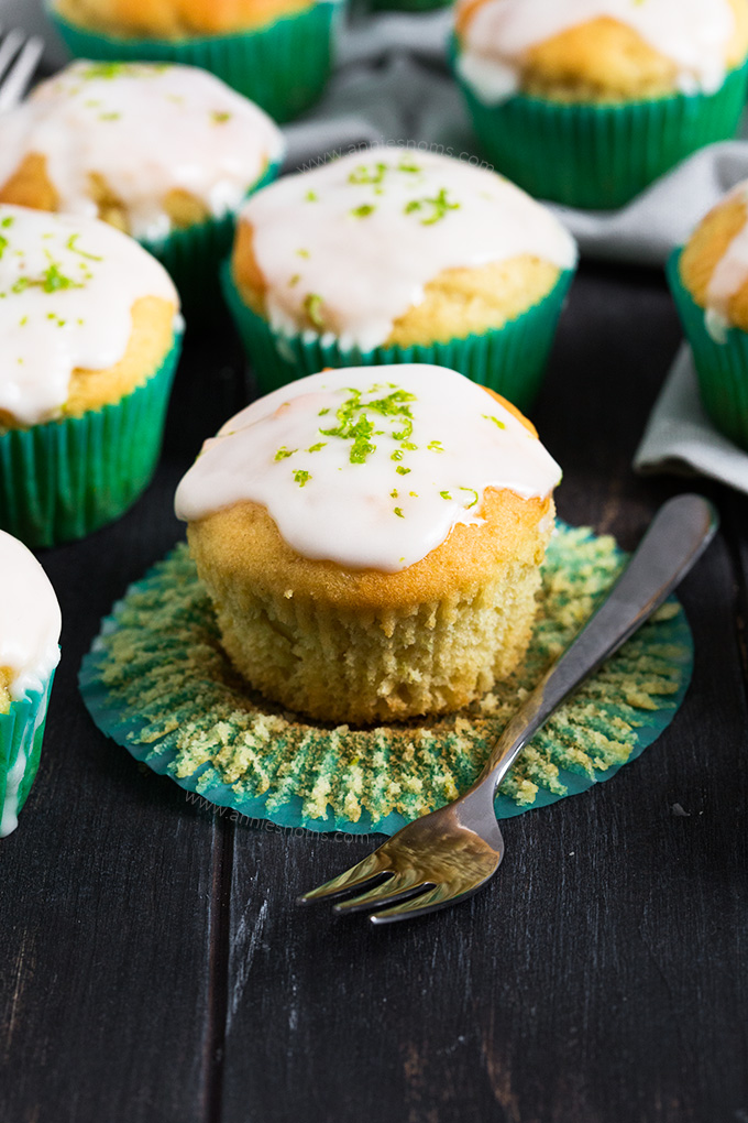 These Lime and Yoghurt Muffins are Spring in muffin form! They're soft, flavourful, easy to make and perfect for breakfast on the go!