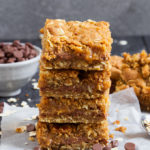 These chewy chocolate and caramel filled Carmelitas are easy to make and the most insanely delicious cookie bars I've EVER had the pleasure of making and eating.