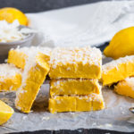 This delicious, easy to make Lemon and Coconut Fudge marries together zesty and tropical to create one melt in your mouth dessert that you won't be able to stop eating!!