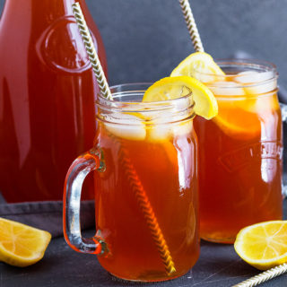 This refreshingly sweet Lemon Iced Tea is so simple to make, super delicious and will keep you cool all Summer long!