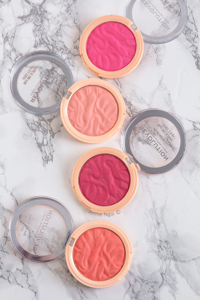 Revolution Beauty just released 12 shades of blusher reloaded and 6 of highlight reloaded. Today I'm sharing my first impressions and some swatches with you!