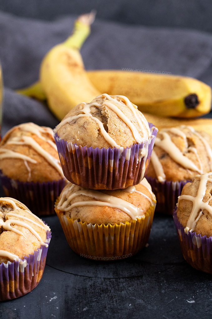 Use up those over ripe bananas and make these delicious Maple Banana Muffins sweetened with maple syrup and perfect for breakfast on the go!