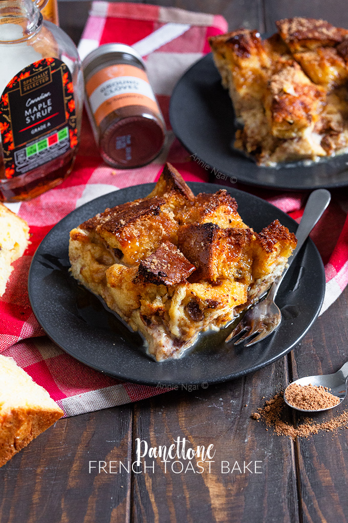 This simple to make Panettone French Toast Bake is a make ahead recipe and the perfect, delicious recipe for Christmas morning!