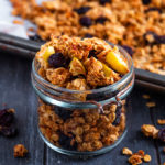 This crunchy Apple and Raisin Granola is easy to make and nut free! Make a batch at the weekend and then have breakfast sorted for the whole week!