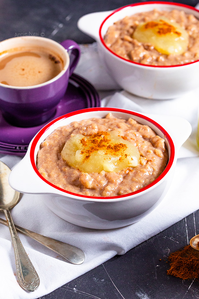This Slow Cooker Oatmeal is one seriously delicious way to start off your day. Creamy and full of flavour, you'll keep coming back for more!