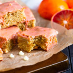 Blood Orange marries together with chunks of white chocolate to create these flavourful, chewy and delicious blondies that are perfect for Spring!